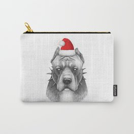 Santa Pitbull Carry-All Pouch