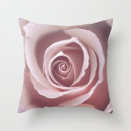 Pink Pastel Rose Throw Pillow