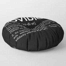 Covidiot Definition II Floor Pillow