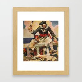 Blackbeard the Buccanneer Framed Art Print