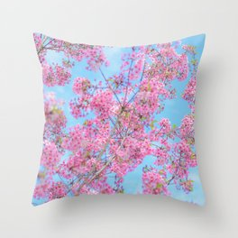 Bright and Happy Throw Pillow