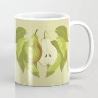 pear Mugs featuring Pear by Marlene Pixley
