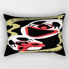 laugh now Rectangular Pillow