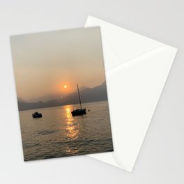 star crossed boats Stationery Cards