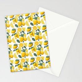 lemon pattern spraybrush illustration Stationery Cards