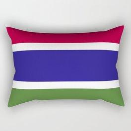 Gambia flag emblem Rectangular Pillow