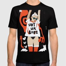 Not Ur Babe Mens Fitted Tee MEDIUM Black