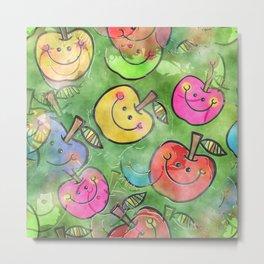 Apple Watercolor Metal Print