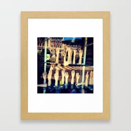 In the hands of absence Framed Art Print