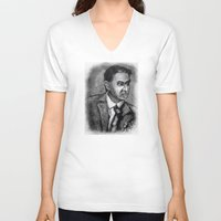 sagan V-neck T-shirts featuring Carl Sagan by Wesley S Abney