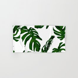 Simply Tropical Palm Leaves in Jungle Green Hand & Bath Towel