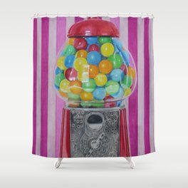 Gumball Machine Shower Curtain