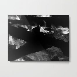 Licking Iron Metal Print