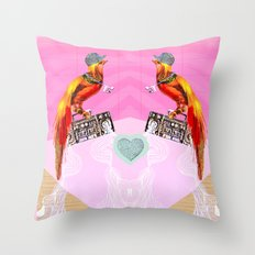 >>BOOMBOXBYRD Throw Pillow