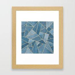 Dusk Blue Stone Framed Art Print