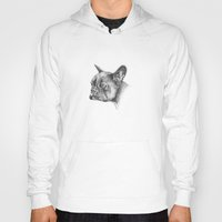 french bulldog Hoodies featuring French Bulldog by Squidoodle