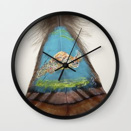 Sea Turtle on the Bottom Wall Clock
