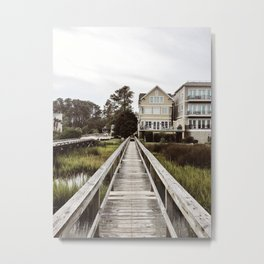 A Southern Beach Boardwalk Metal Print