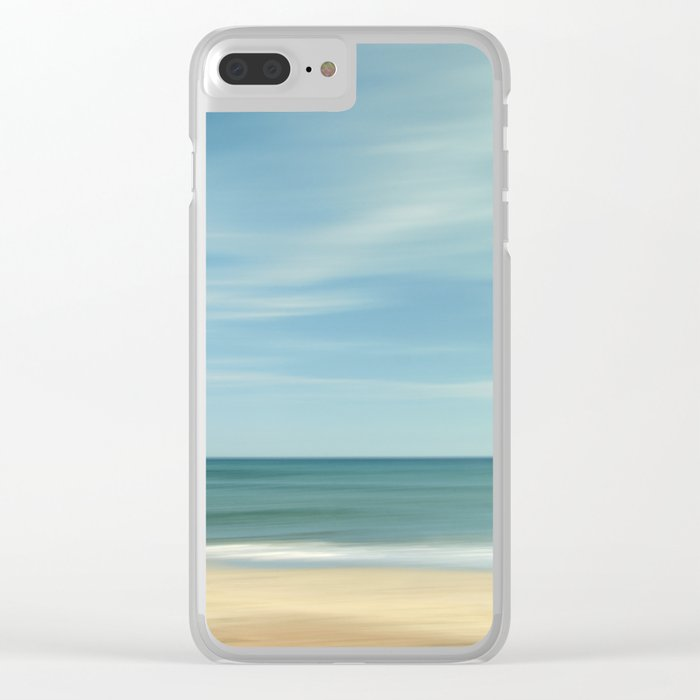 """Vintage summer"". Summer beach. Clear iPhone Case"