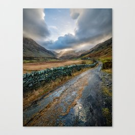 Valley Sunlight Canvas Print