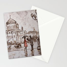 meeting in red #2 Stationery Cards