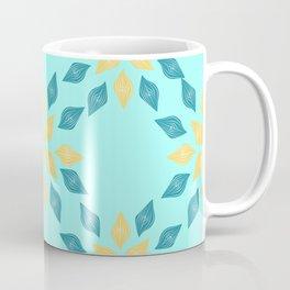 leaves and flowers summer pattern Coffee Mug