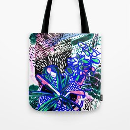 Spider Plant and Succulent Tote Bag