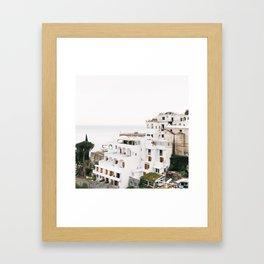 Cliffside View, Positano Framed Art Print