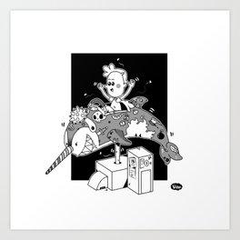 killer narval machine Art Print