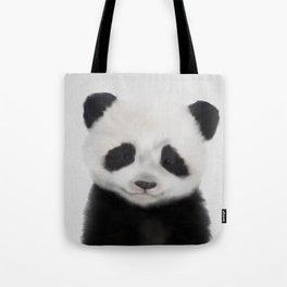 Baby Panda Print, Nursery Animal - Printable Wall Art - Kids Bedroom Poster, Boys Room Decor Tote Bag