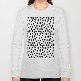 Hand drawn drops and dots on white - Mix & Match with Simplicty of life Long Sleeve T-shirt