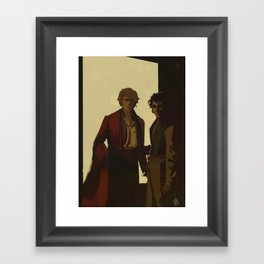 Orestes Fasting and Pylades Drunk Framed Art Print