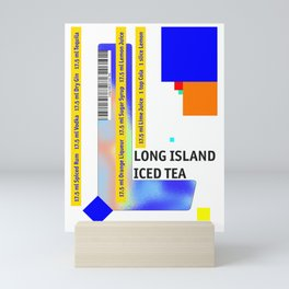 "Cocktail ""L"" - Long Island Iced Tea Mini Art Print"