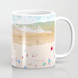 Drone shot of Manhattan beach Coffee Mug