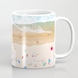 Drone shot of Manhattan beach Coffee Mug