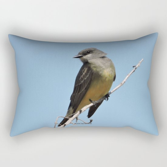 A Cassin's Kingbird Scopes the Skies for Flies Rectangular Pillow