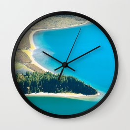 Lake in Azores islands Wall Clock