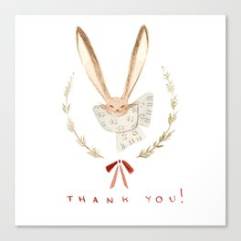 Holiday Thank You Bunny Canvas Print
