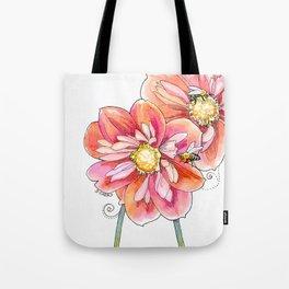 """bee inspired"" (no text) watercolor garden art Tote Bag"