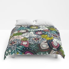 succulents multi dark Comforters