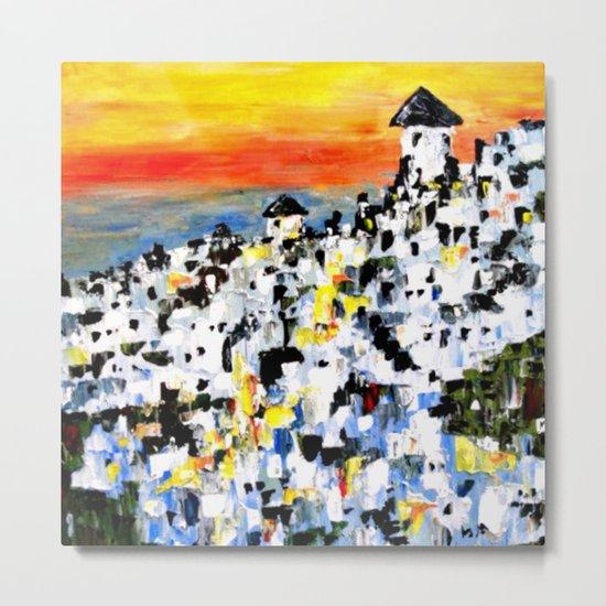 Abstract Santorini, Greece Landscape Metal Print