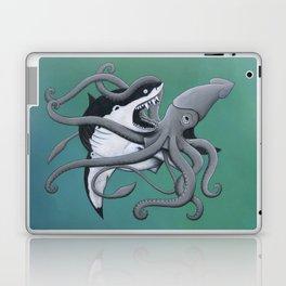 megalodon vs. giant squid Laptop & iPad Skin