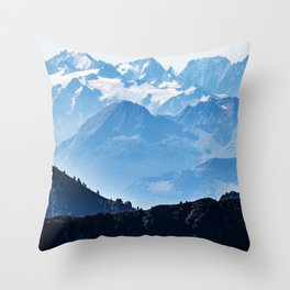 Great Mountains Landscape - The Peaks of The Alps #decor #society6 #buyart Throw Pillow
