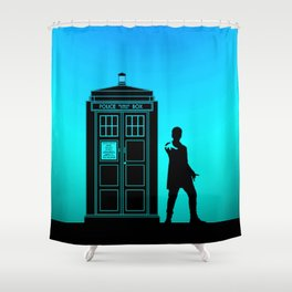 Tardis With The Twelfth Doctor Shower Curtain
