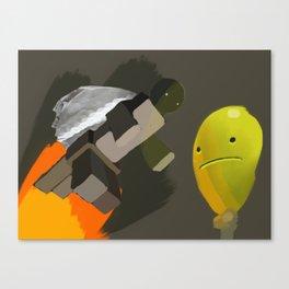 Super Robot Turtle Canvas Print