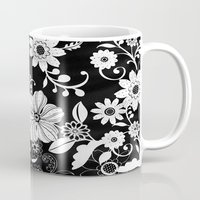 floral pattern Mugs featuring Floral pattern by Laake-Photos