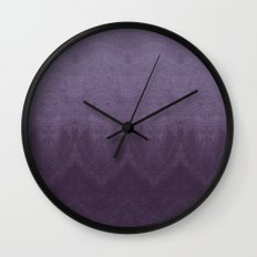 Purple Ombre Wall Clock