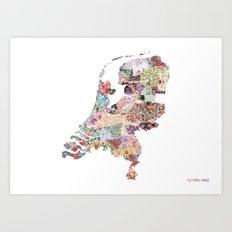 Netherlands map Art Print