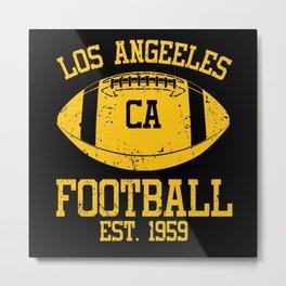 Los Angeles Football Fan Gift Present Idea Metal Print