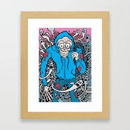 Hooded Skull  Framed Art Print